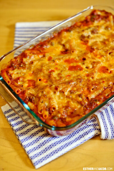 Kittencal's Freezer Baked Ziti Recipe | Foodie Fridays