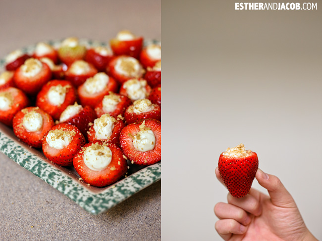 Cheesecake Filled Strawberries Recipe | Easy Party Finger Food