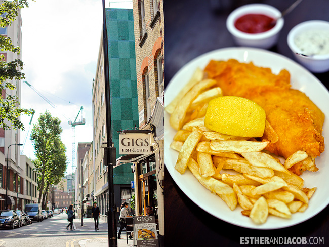 Gigs Fish and Chips | London Restaurants | Eat in London