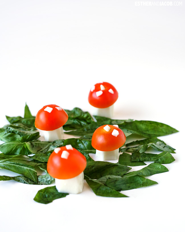 Magic Mushroom Caprese Salad and balsamic dressing recipes for salad