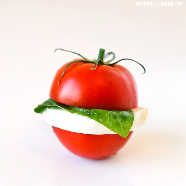 Roman Layered Caprese Salad