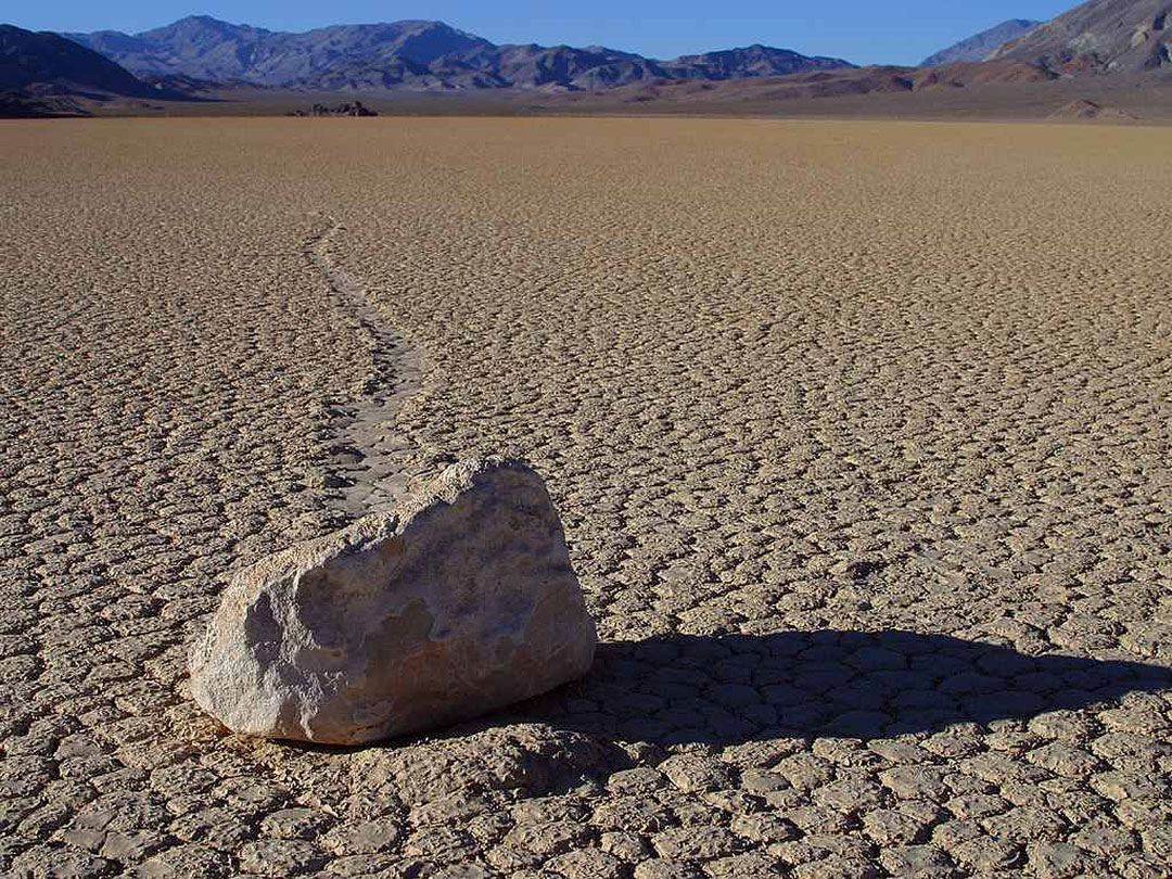The Racetrack Playa Death Valley National Park California USA