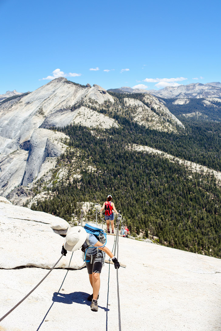 At the top of the Half Dome Hike! // localadventurer.com