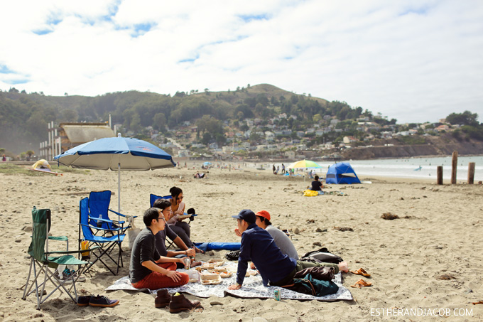 picnic at pacifica beach. pacifica state beach. things to do in bay area. things to do in san francisco. things to do san francisco. beaches in san francisco. bay area beaches.