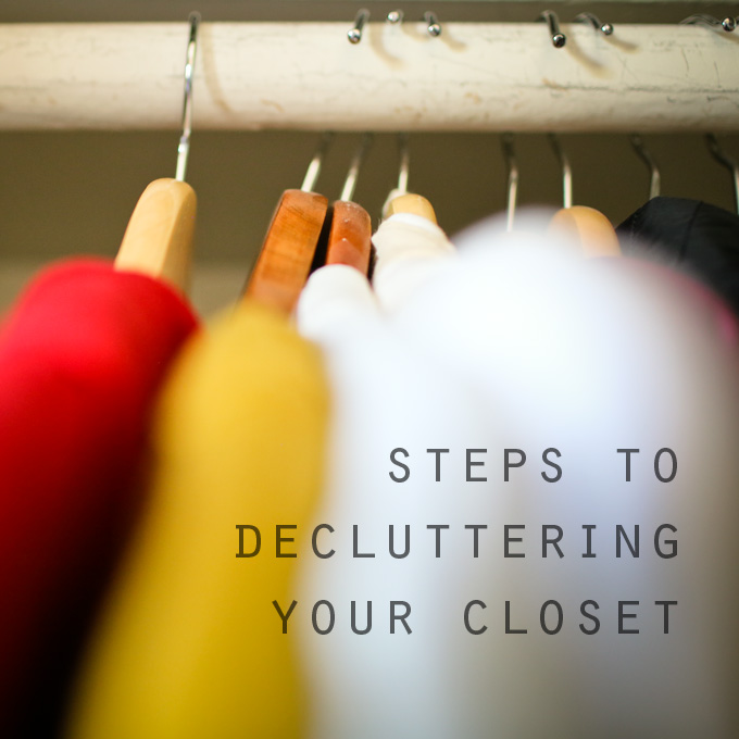 100 days of less and steps to decluttering your closet. less is more blog.