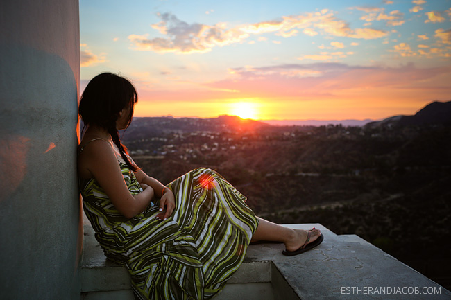 sunset at griffith observatory la. observatory griffith. things to do in la.