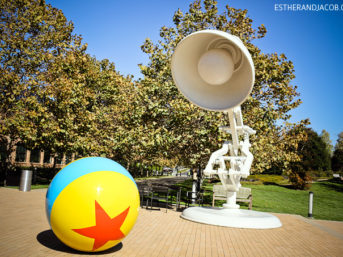 pixar lamp on the pixar campus. our visit at pixar, pixar animation studios, pixar animation studios tour, pixar animation studios tours, pixar animation, pixar studios, pixar emeryville
