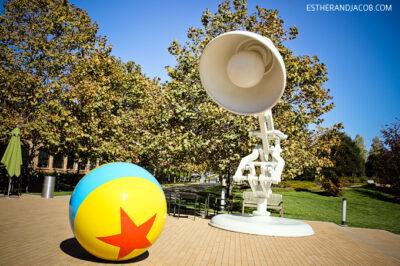 pixar lamp on the pixar campus. our visit at pixar, pixar animation studios, pixar animation studios tour, pixar animation studios tours, pixar animation, pixar studios, pixar emeryville