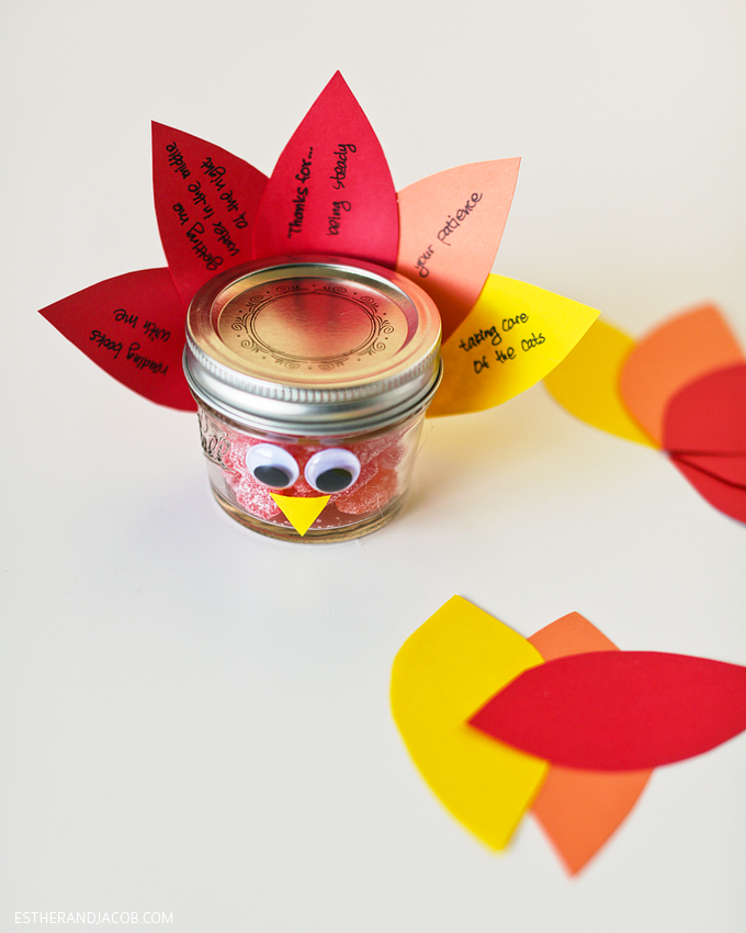 Thanksgiving crafts diy mason jar turkey gratitude week 11 for Diy thanksgiving crafts