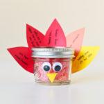 Thanksgiving Crafts: DIY Mason Jar Turkey | Gratitude Week 11