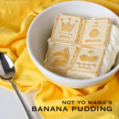 Not Yo Mama's southern banana pudding recipe from Paula Dean. homemade banana pudding recipe. simple banana pudding recipe. banana pudding cake recipe. banana bread pudding recipe.