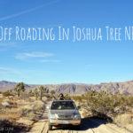 Off Roading in Joshua Tree National Park