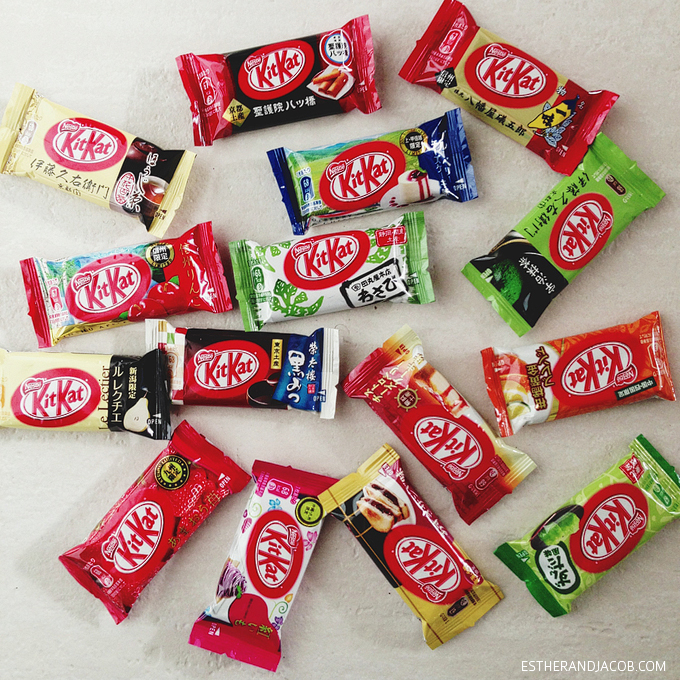 japanese kit kat flavors & our kitkat exchange. japanese weird candy. list of kit kat flavors. apple kit kat wasabi. green tea kit kat. orange kit kat.