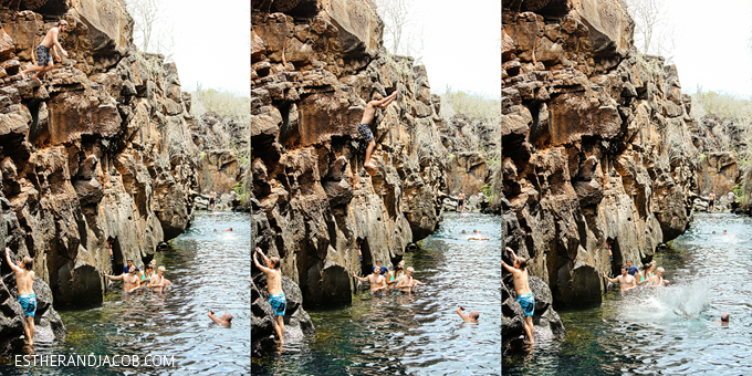 Cliff jumps at Las Grietas in Santa Cruz.