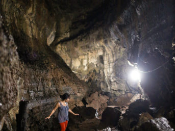 Our trek through lava tunnels in galapagos national park. Find out what is a lava tube and how are lava tubes formed. lava tunnels santa cruz galapagos.