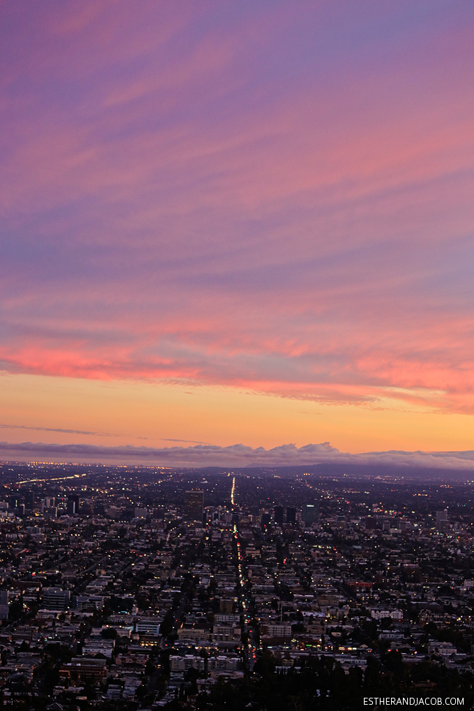 Last LA sunset from the Griffith Observatory. After living in LA for one full year, we're moving to Vegas. Viva Las Vegas!