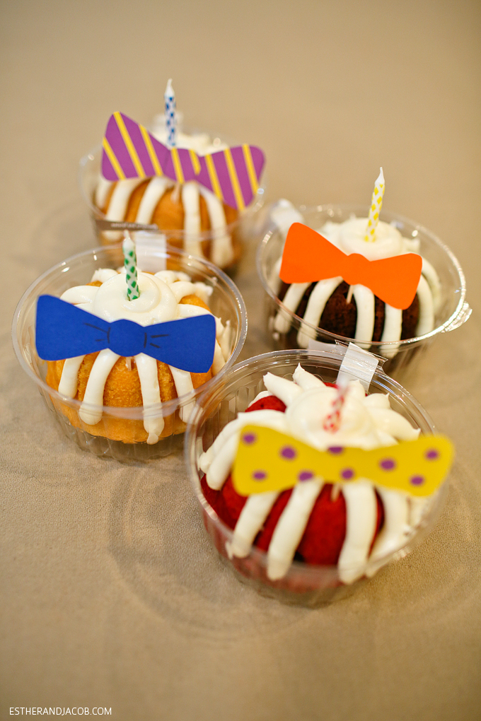 themed party with things starting with the letter b bowties beer bundt cakes
