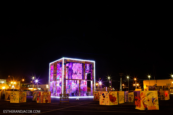 The Life Cube Project from Burning Man in Downtown Las Vegas | Downtown Project Las Vegas.