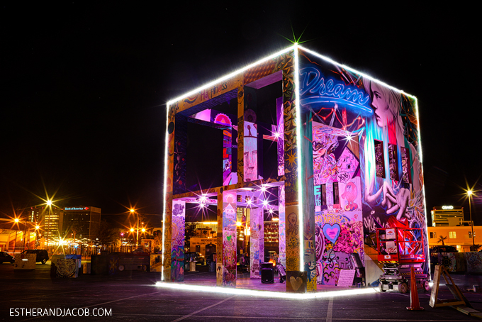 The Life Cube Project from Burning Man in Downtown Vegas | Downtown Project Las Vegas.
