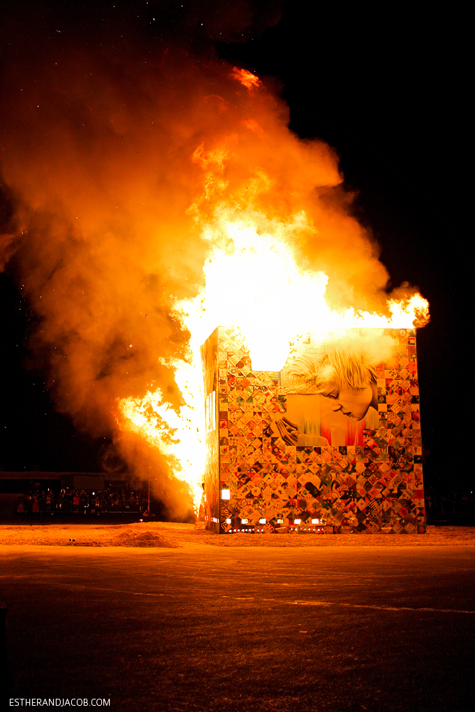 The Life Cube Burn in Downtown Las Vegas | Downtown Project Las Vegas.
