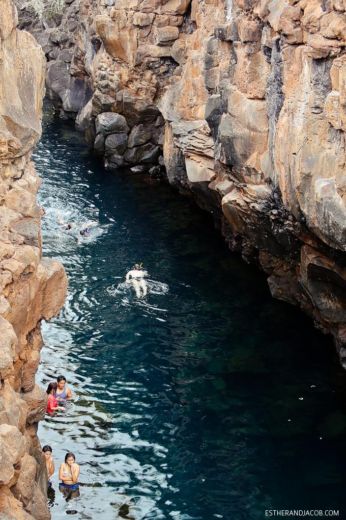 Snorkeling and Cliff Jumping at Las Grietas Santa Cruz Island.