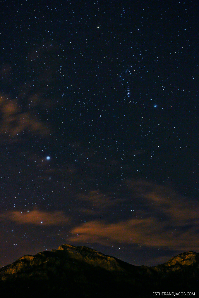 Our very first Star Party on Mount Potosi Las Vegas! Jupiter and the orion nebula.