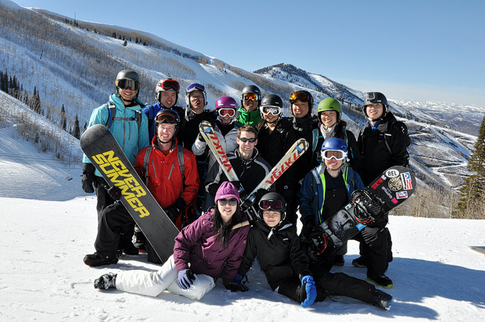 This is our group photo on Park City Mountain.