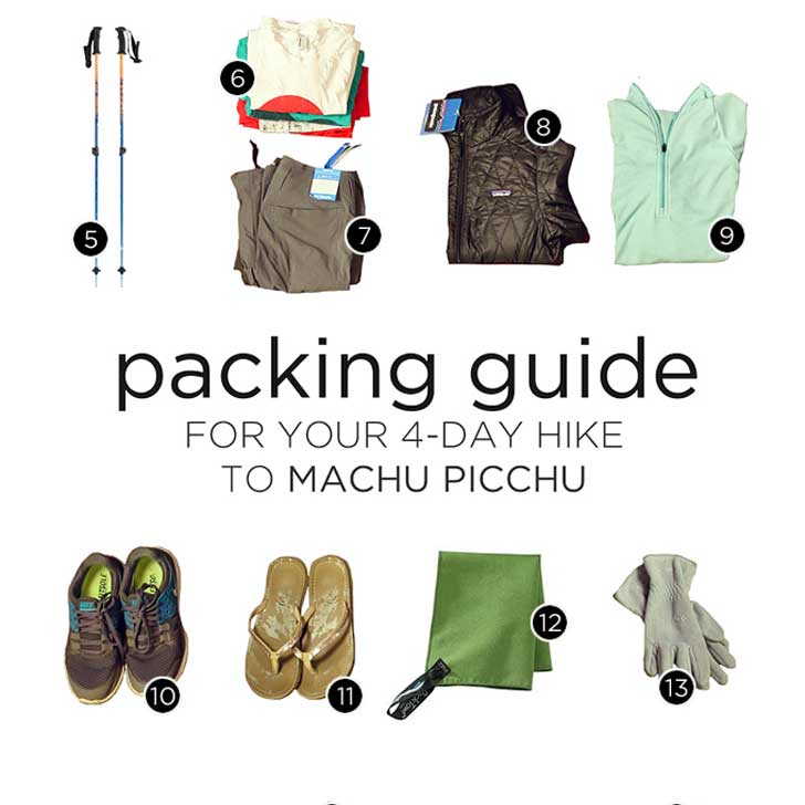 Inca Trail Packing List - What to Pack for Machu Picchu and Your 4-Day Inca Trail Hike // localadventurer.com