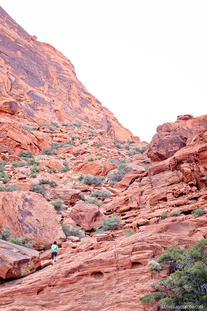 Guardian Angel Pass or The Saddle at Red Rock Canyon. | Red Rock Canyon Hiking.