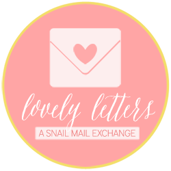 Lovely Letters Snail Mail PenPals Program Button.