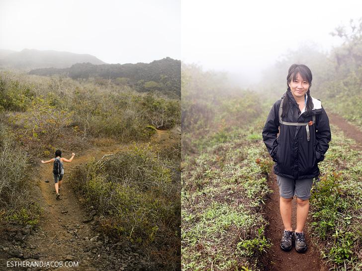 Patagonia Rain Jacket | Sierra Negra Volcano Hike on Isabela Island.