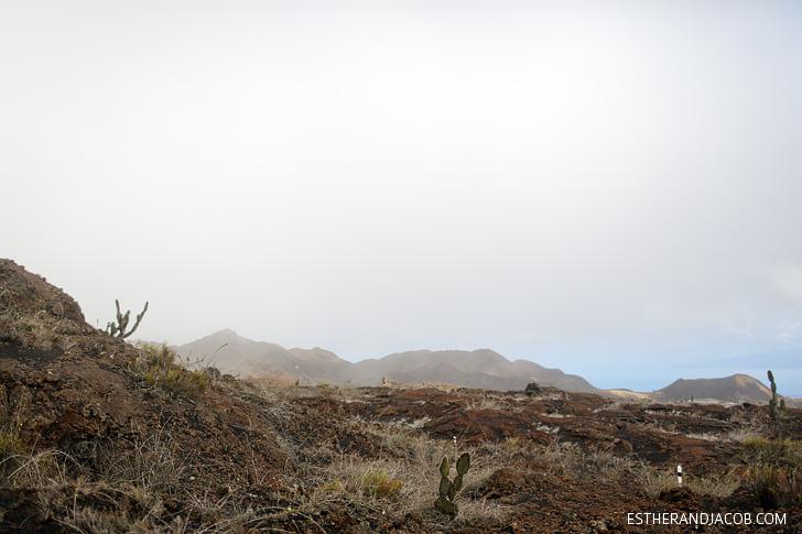 Sierra Negra Volcano Hike on Isabela Island Galapagos.