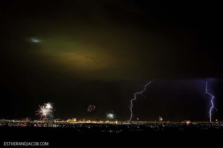 Las Vegas Lightning Photos and Fireworks Photos.