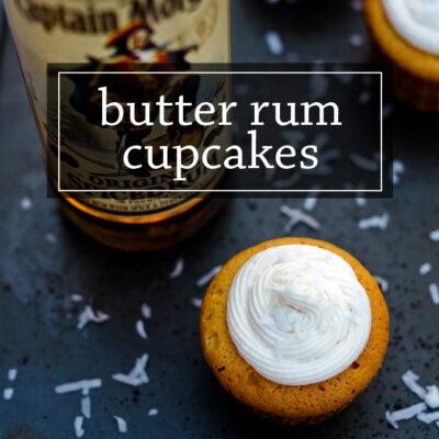 Butter Rum Cupcakes Recipe.