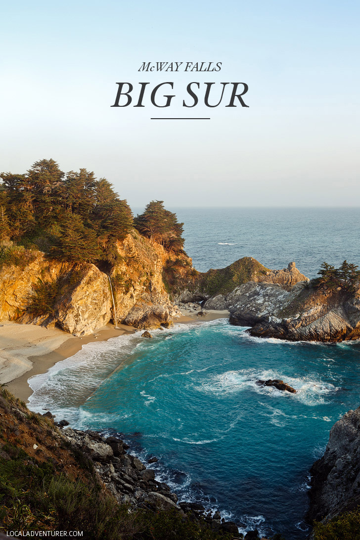 mcway falls big sur california - julia pfeiffer burns state park