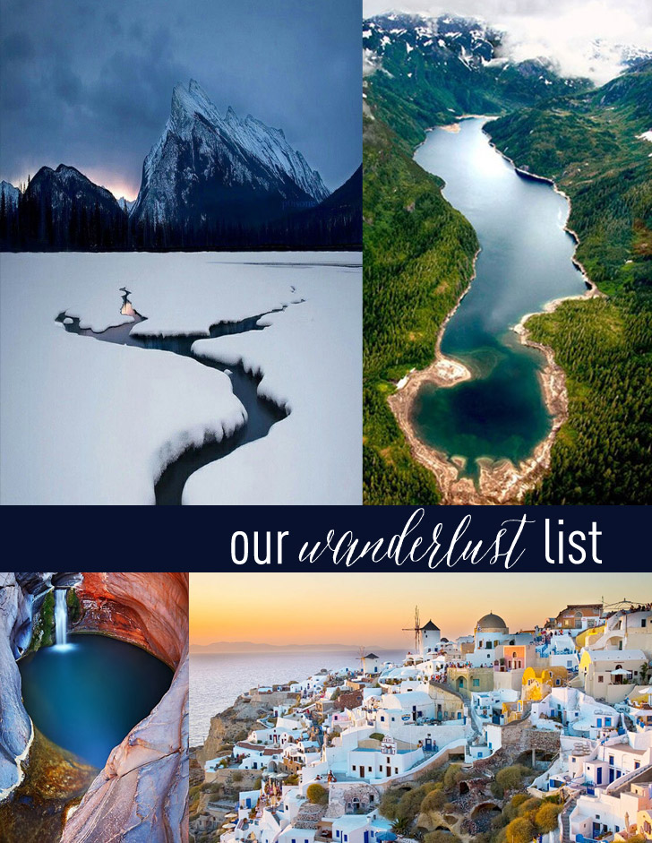 Next 5 on Our Wanderlust List