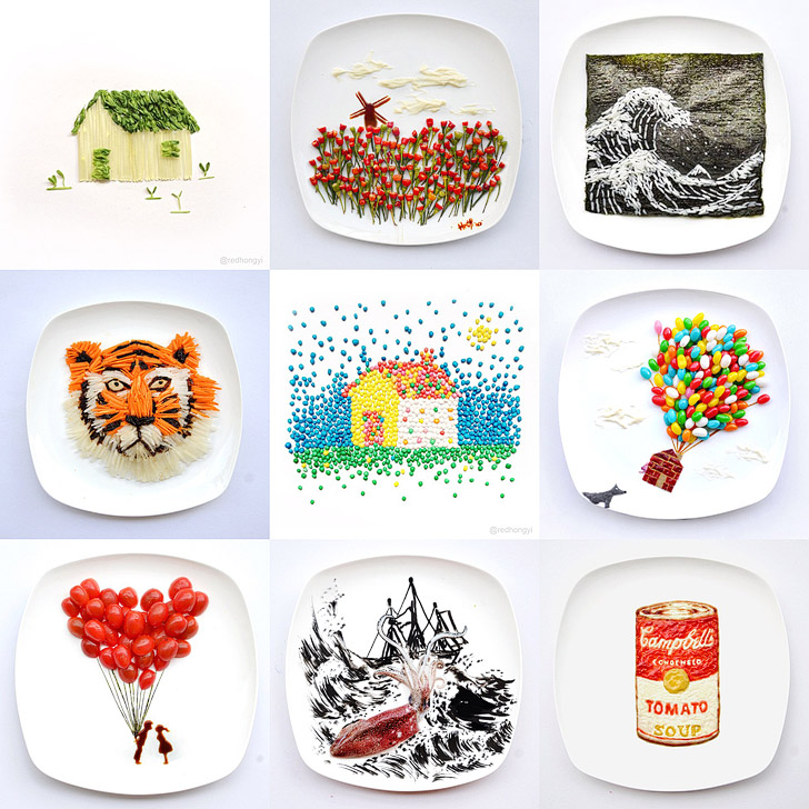 Red Hong Yi Food Art on Instagram #foodart