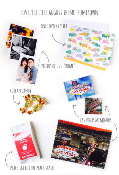 August's Snail Mail Exchange / Lovely Letters Monthly Pen Pal Program