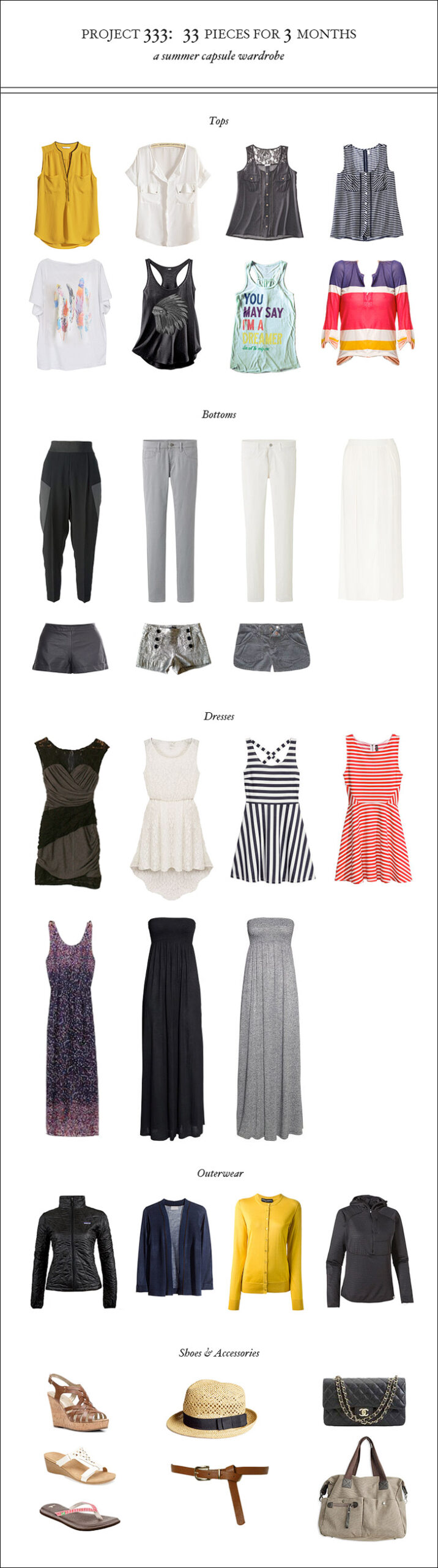 Essential Summer Capsule Wardrobe – Project 333