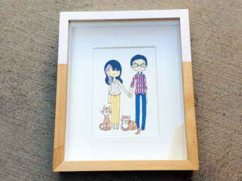 Custom Family Illustration by Cat plus mouse.