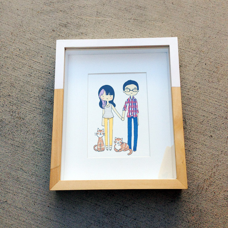 Giveaway: Custom Family Portrait Illustration with Cat Plus Mouse