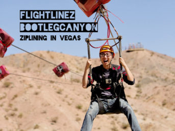 Ziplining in Vegas - Flightlinez Bootleg Canyon Zipline.