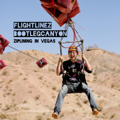 Ziplining in Vegas - Flightlinez Bootleg Canyon Zipline.