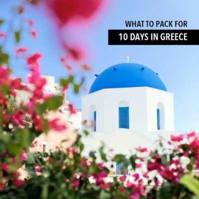 What to Pack for Greece // 10 days in a Carry On.