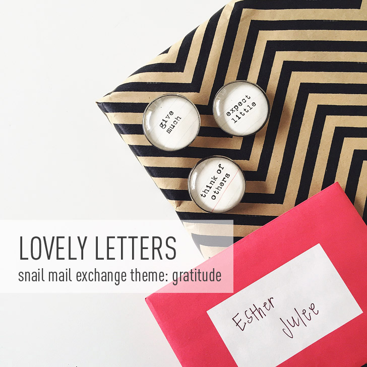 My November Lovely Letters Package (Theme - Gratitude + Snail Mail Pen Pal - Leanna from Simply Adventurous)