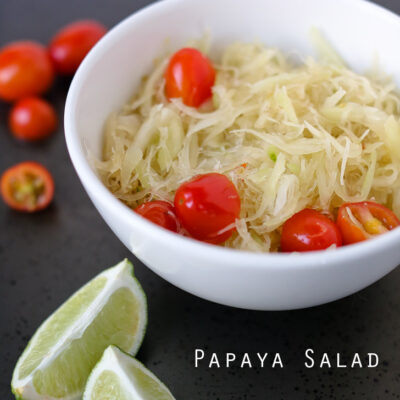 Thai Green Papaya Salad Recipe // Tried and True Recipes.