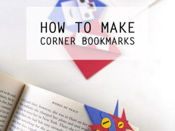 How to Make a Corner Bookmark with Big Hero Six Movie Characters.