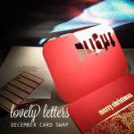 Lovely Letters Dec Card Swap + Jan Sign Up