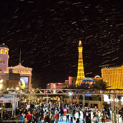 Ice Skating at the Cosmopolitan Las Vegas.