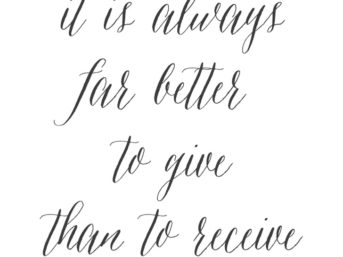 it is better to give than to receive quote